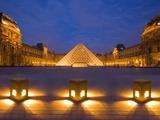The Louvre at Twilight, Paris, France Fotografisk trykk av Jim Zuckerman
