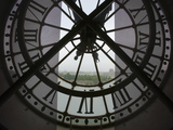 View Across Seine River from Transparent Face of Clock in the Musee d'Orsay, Paris, France Fotografisk trykk av Jim Zuckerman