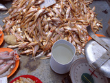 Grenadier Anchovies for Sale in Market, Malaysia Photographic Print by Jay Sturdevant