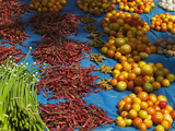 Local Market Selling Vegetables, Orissa, India Photographic Print by Keren Su