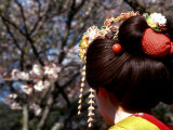 Close-up of Geisha on Philosophers Path, Kyoto, Japan Photographic Print by Nancy & Steve Ross