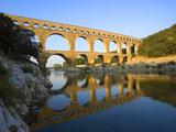 The Pont du Gard Roman Aquaduct Over the Gard River, Avignon, France Fotografisk trykk av Jim Zuckerman