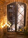 Wine Cellar with Bottles Behind Iron Bars, Stockholm, Sweden Fotografisk trykk av Per Karlsson