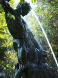 Close-up of Bronze Statue and Fountain in Mariatorget Square, Stockholm, Sweden Photographic Print by Nancy & Steve Ross
