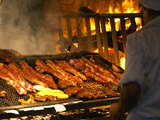 Charcoal Grill in Restaurant El Palenque, Mercado Del Puerto, Montevideo, Uruguay Photographic Print by Per Karlsson