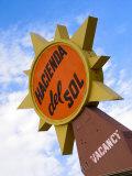 Hacienda Del Sol Motel Sign, Borrego Springs, California, USA Photographic Print by Nancy & Steve Ross