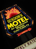 Sundown Motel Sign, Sheridan, Wyoming, USA Photographic Print by Nancy & Steve Ross