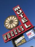 Wheels Motel Sign, Greybull, Wyoming, USA Photographic Print by Nancy & Steve Ross