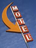 Detail of Plain Motel Sign, Cle Elum, Washington, USA Photographic Print by Nancy & Steve Ross