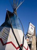 Arrowhead Motel Sign, Buffalo, Wyoming, USA Photographic Print by Nancy & Steve Ross