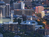 Late Afternoon Light on Mormon Temple Square, Salt Lake Temple and Tabernacle, Salt Lake City Fotoprint av Dennis Flaherty