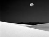 Nighttime with Full Moon Over the Desert, White Sands National Monument, New Mexico, USA Fotografisk trykk av Jim Zuckerman