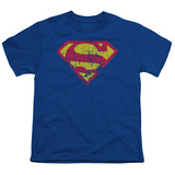 Youth: Superman - Classic Logo Distressed T-shirts