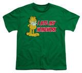 Youth: Garfield - I Ate My Homework T-Shirt