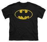 Youth: Batman - Classic Logo Distressed Shirts
