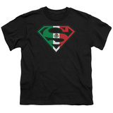 Youth: Superman - Mexican Flag Shield T-shirts