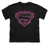Youth: Superman - Fuchsia Flames T-shirts
