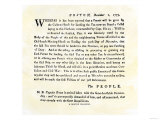 Handbill Warning Boston Patriots against Buying Tea, December 2, 1773 Giclee-trykk