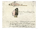 William Clark's Sketch of Flathead Indians in His Diary, c.1804-1806 Giclee-trykk