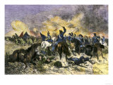 King Charles XII Leading the Swedish Army to Victory over the Russians at Narva, c.1700 Giclee Print