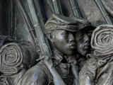 Black Soldiers of the 54th Massachusetts Regiment, Memorial in Boston, Massachusetts Reproduction photographique