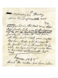 Henry Bigler's Diary Entry Marking James Marshall's Gold Discovery at Sutter's Mill, c.1848 Giclee Print