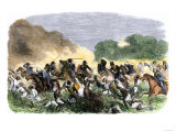 British Royal Horse Artillery Charge against Unmounted Natives near Allahbad, India, c.1857 Giclee Print