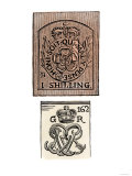 Stamp Act Stamps Issued by the British Government Before the American Revolution Giclee Print