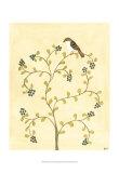 Berry Bird II Prints by Virginia A. Roper