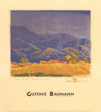 Rain in the Mountains Lámina por Gustave Baumann
