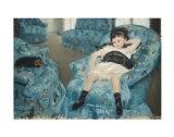 Little Girl in a Blue Armchair, c.1878 Affiche par Mary Cassatt
