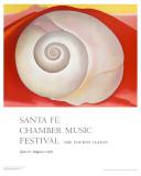 White Shell with Red Kunstdrucke von Georgia O'Keeffe
