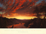 Twilight in the Wilderness, c.1860 Plakat af Frederic Edwin Church
