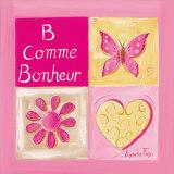 B Comme Bonheur Print by Lynda Fays