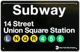 Subway Union Square Station Blechschild