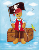 Le Pirate Poster by Lynda Fays