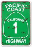 Pacific Coast Highway Plaque en métal