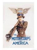 The Motor-Corps of America Premium Giclee-trykk av Howard Chandler Christy