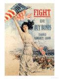 FIGHT! or Buy Bonds: Third Liberty Loan Premium Giclee-trykk av Howard Chandler Christy