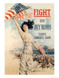 FIGHT! or Buy Bonds: Third Liberty Loan Arte por Howard Chandler Christy