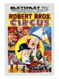 Robert Brothers' Circus at Bletchley Market Field Kunstdrucke