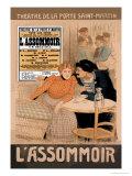 L'Assommoir, c.1900 Print by Théophile Alexandre Steinlen