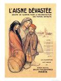 L'Aisne Devastee, c.1918 Poster tekijänä Théophile Alexandre Steinlen