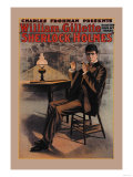 William Gillette as Sherlock Holmes Poster