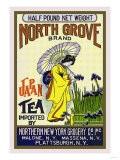 North Grove Brand Tea Poster