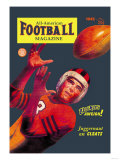 All-American Football Magazine Poster