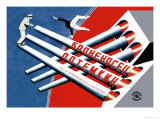 La corazzata Potemkin Poster di  Stenberg Brothers