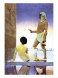 Egypten Poster af Maxfield Parrish