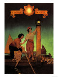 Venetian Lamplighters Kunstdrucke von Maxfield Parrish