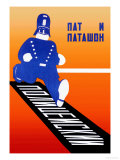 Running Policeman Reproduction giclée Premium par  Stenberg Brothers